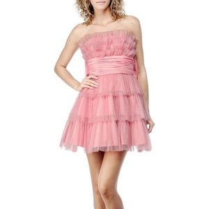 Betsey Johnson Sweet Caroline Tiered Tulle Dress
